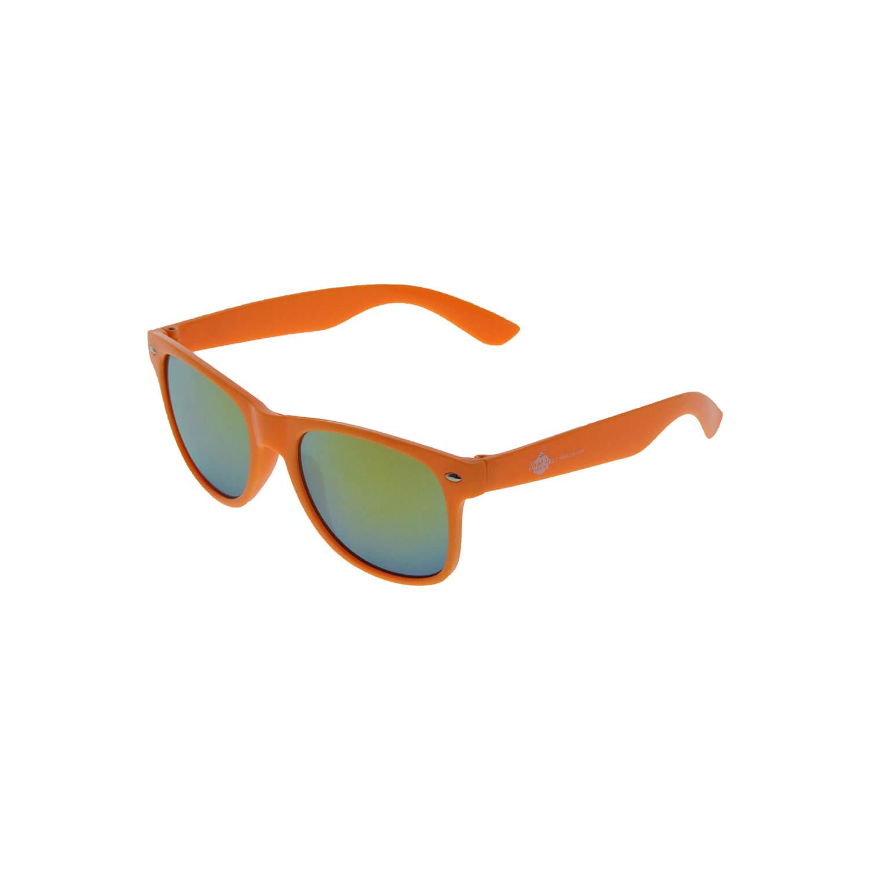 Sonnenbrille Orange, gelbe Gläser