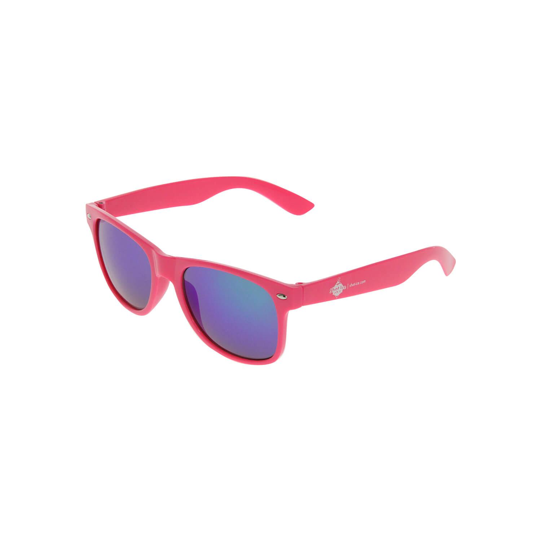 Sonnenbrille Pink, blaue Gläser
