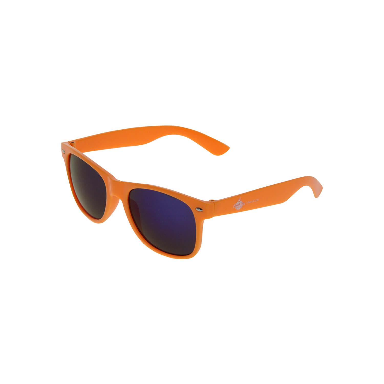 Sonnenbrille Orange, dunkelblaue Gläser
