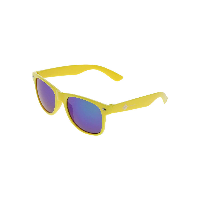 Sonnenbrille Gelb, blaue Gläser